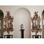 Pair of Irish giltwood pier mirrors.