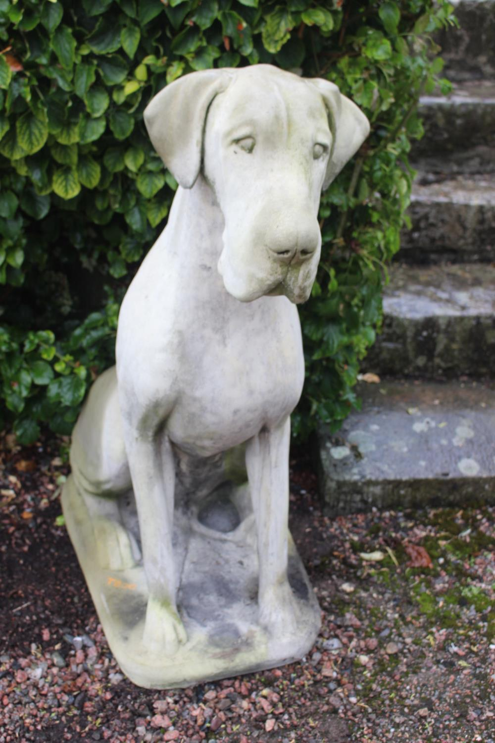 Pair of good moulded stone models of dogs. - Image 5 of 5