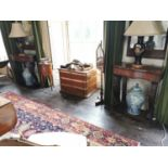 Fine quality William IV rosewood console tables