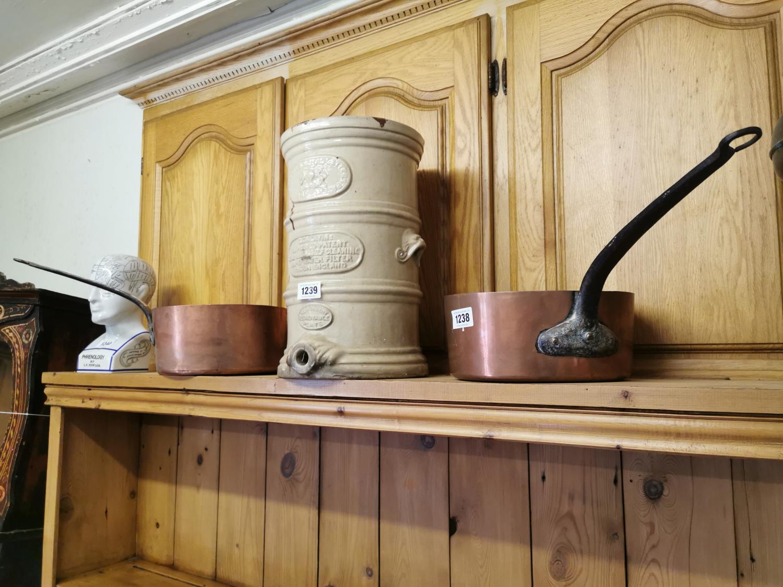 Two 19th. C. copper saucepans