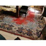 Kirman Teppich carpet square.
