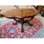 19th. C. rosewood centre table.
