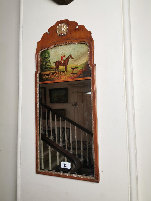 Pair of decorative mahogany pier mirrors