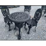 Cast iron three piece garden set