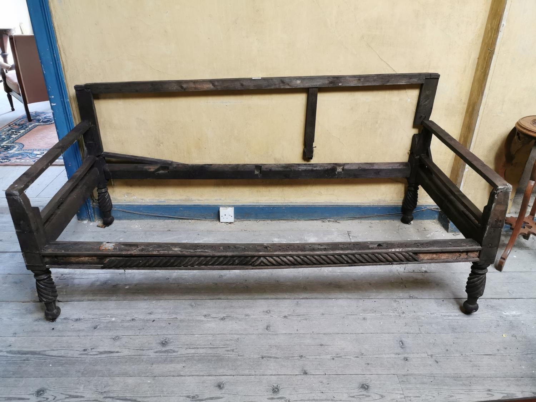 Mahogany Regency sofa frame.