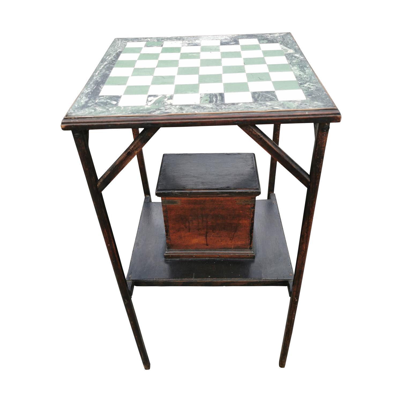 Edwardian mahogany games table. - Image 2 of 2