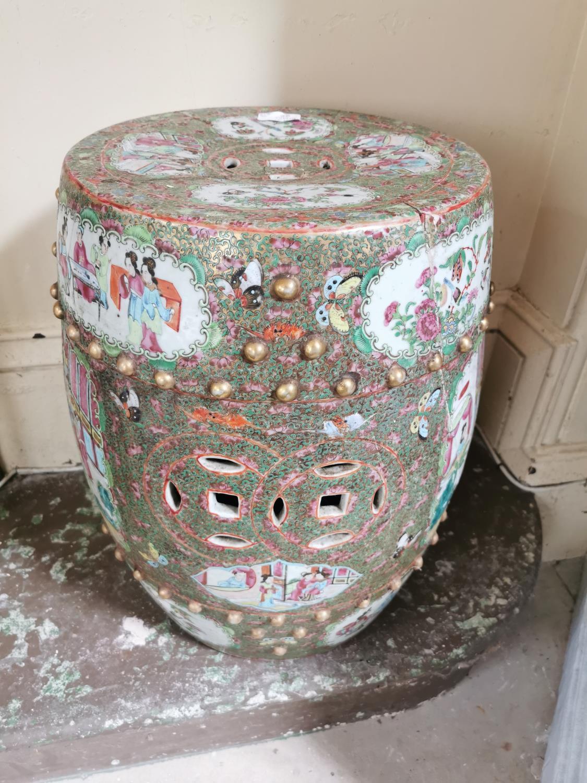 Pair of 19th. C. Oriental ceramic conservatory stools - Image 3 of 3