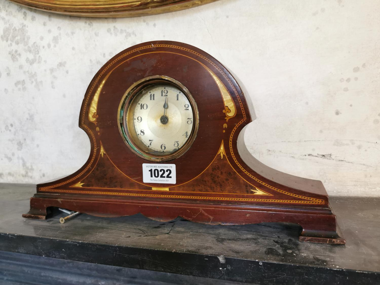 Edwardian satinwood mantle clock.