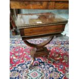 Exceptional quality Regency rosewood writing table