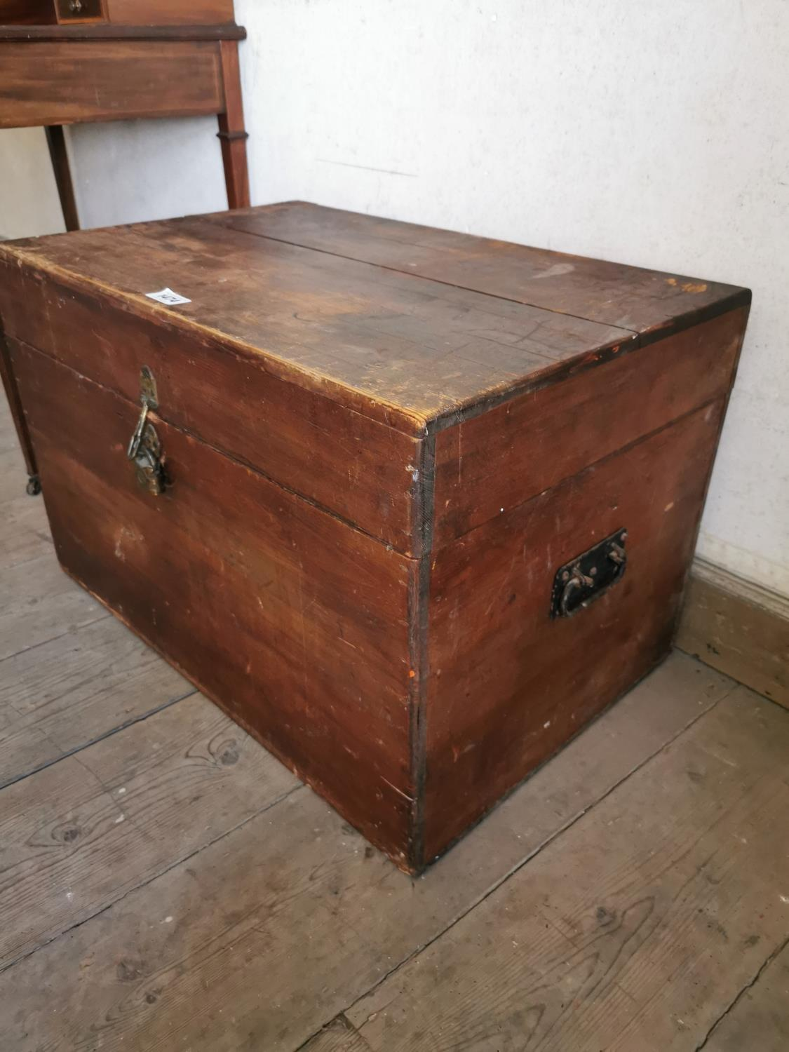 Early 20th C. pine trunk. - Image 2 of 2