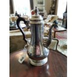 English silver coffee pot