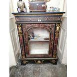 19th. C. Boullé cabinet