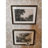 Two 19th. C. black and white prints