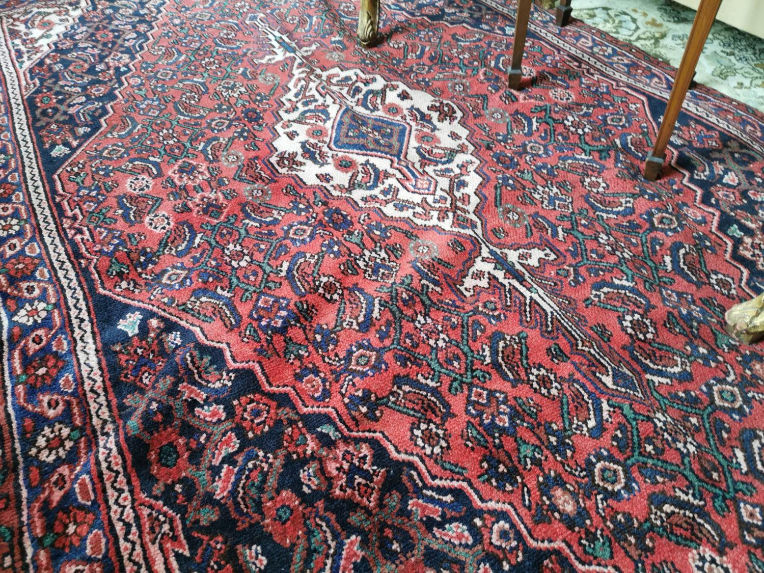 Persian hand knotted wool rug - Image 2 of 2