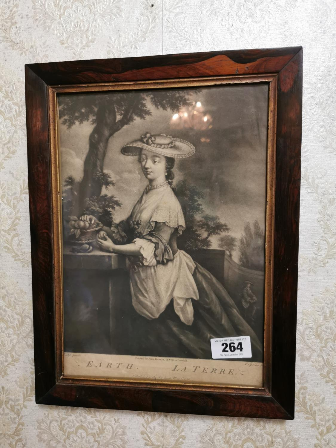 Pair of French black and white prints of Ladies