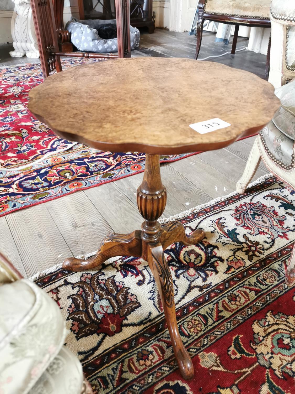 Burr walnut wine table