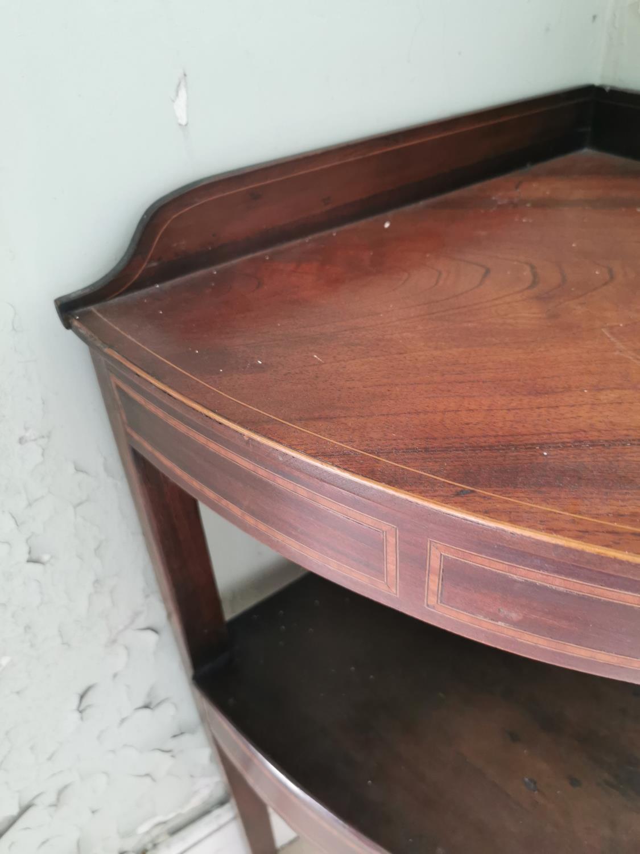 Georgian mahogany corner wash stand. - Image 3 of 3