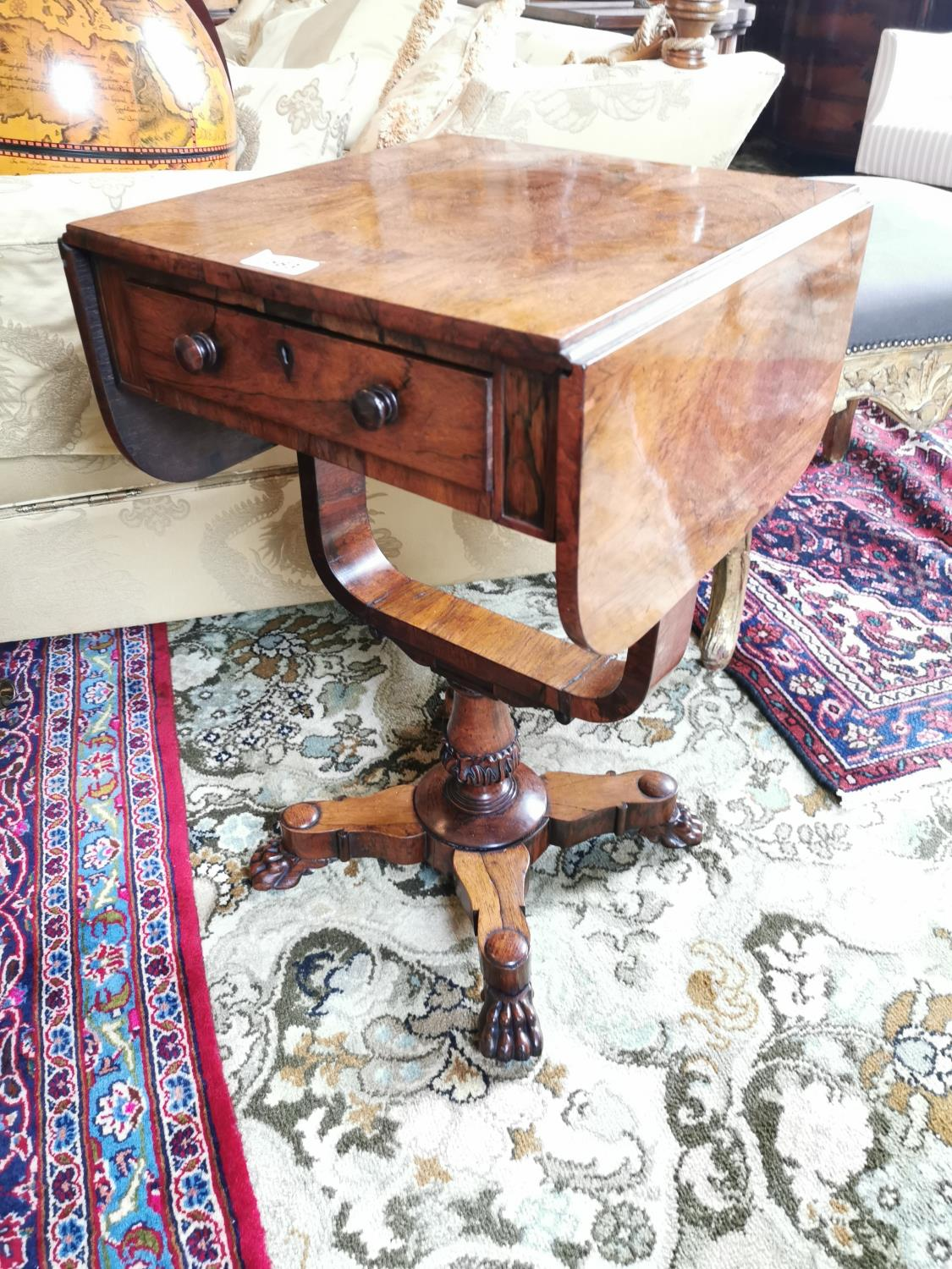 19th C. rosewood lamp table.