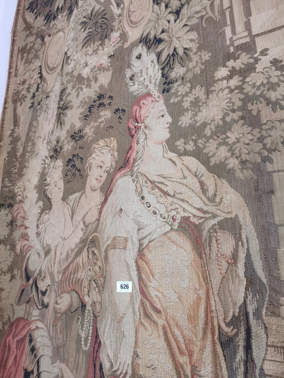 Pair of extremely rare 18th C. Flemish tapestries. - Image 9 of 11