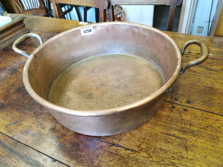 Georgian copper preserving pan