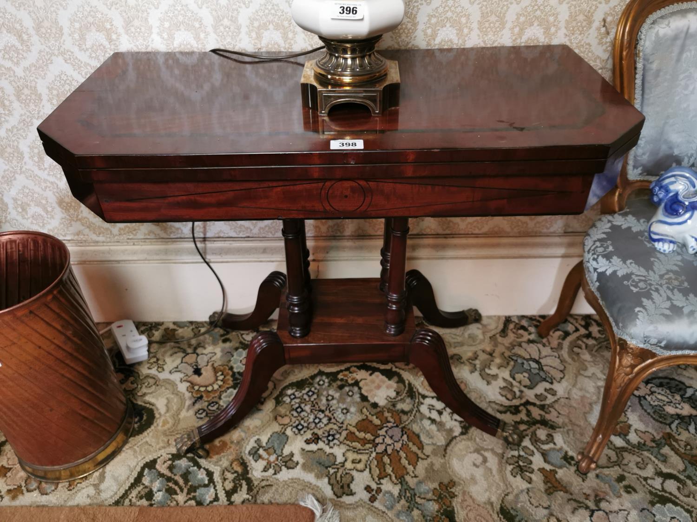 Georgian mahogany turn over leaf card table