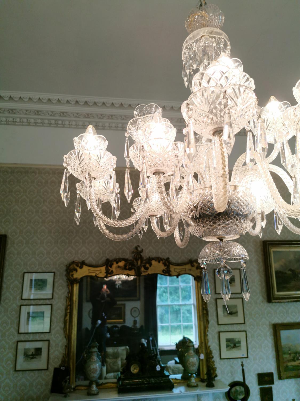 Irish crystal eighteen branch chandelier. - Image 3 of 4