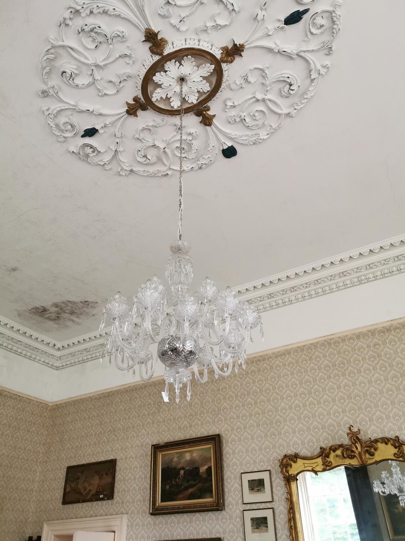 Irish crystal eighteen branch chandelier. - Image 4 of 4