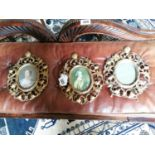 Three 19th. C. gilded metal picture frames