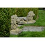 Pair of composition Lions