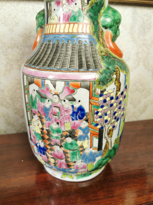 Decorative ceramic vase in the Oriental style - Image 3 of 3