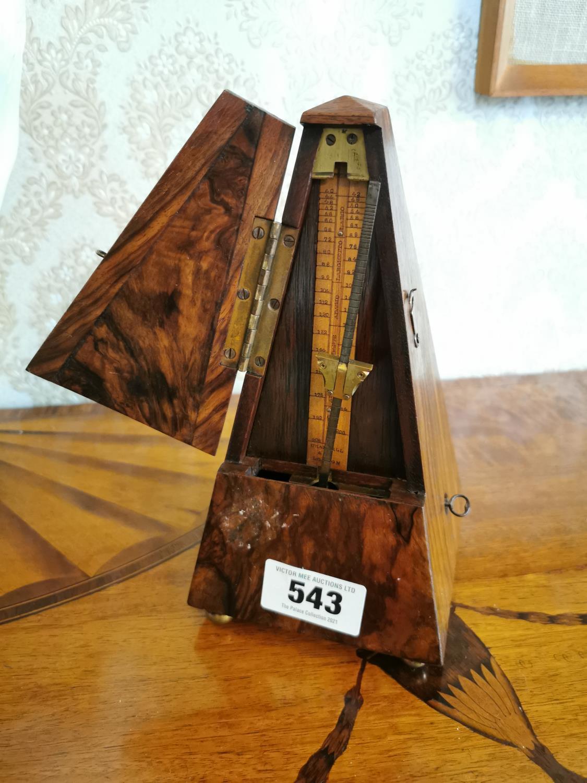 19th. C. coramander wood metromone - Image 2 of 2