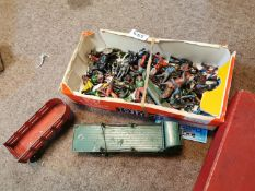 Collection of lead toys