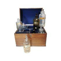 19th C. Oak apothecary box