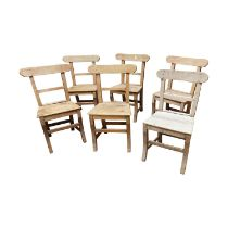 Set of six 19th C. carpenters chairs