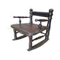 Unusual pine child's rocking chair