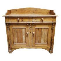19th C. Irish Pine cabinet.