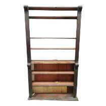 19th C. Mahogany built-in bookcase