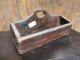 19th C. Irish painted pine toolbox