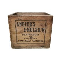 Early 20th C. pine advertising box