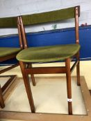 SET OF FOUR TEAK 1960S DINING CHAIRS