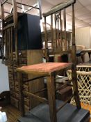 PAIR OF INLAID BEDROOM CHAIRS,