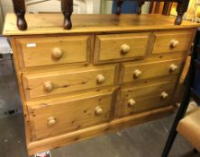 PINE THREE OVER FOUR DRAWER CHEST
