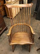 ELM AND BEECH COMB BACK COUNTRY ARMCHAIR