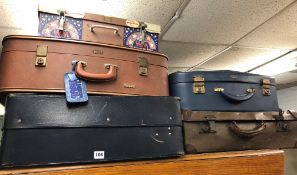 SELECTION OF MID 20TH CENTURY SUITCASES