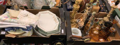 CARTON CONTAINING VARIOUS PLACEMATS, ETERNAL BEAU DINNER PLATES,