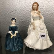 ROYAL DOULTON FIGURES - CHERIE AND BARBARA