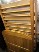 PINE FRAMED COT AND A LINDHAM STAIR SAFETY GATE