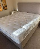 GOOD QUALITY HARRISON SUPER KING SIZE BED (MATTRESS 180CM WIDE APPROX) WITH DRAWER DIVAN BASE AND