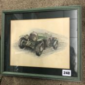 LIMITED EDITION 64/200 PRINT OF A RACING CAR