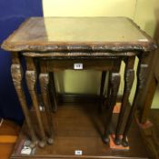 NEST OF THREE CARVED EDGE TABLES